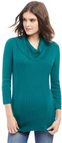 Maternity Oh Baby by MotherhoodTM Ribbed Cowlneck Sweater