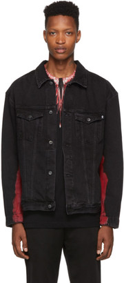 Marcelo Burlon County of Milan Black Tie-Dye Denim Jacket