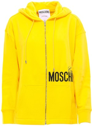 Moschino Logo Zip Up Sweatshirt