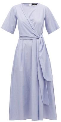 Max Mara Dedalo Dress - Womens - Light Blue