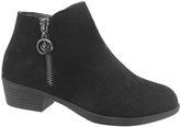 Pierre Dumas Black Zip Zury Ankle Boot - Kids
