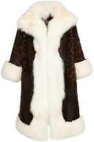 Dolce & Gabbana Animal Print Fur Coat