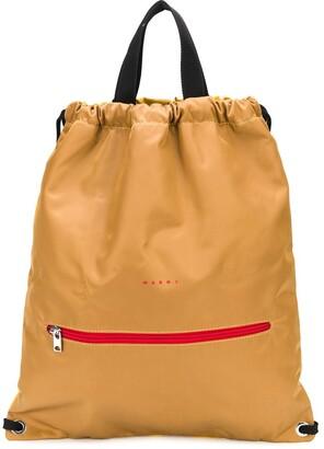 Marni Two-Tone Drawstring Backpack