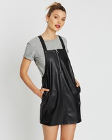 Miss Selfridge PU Pinny Dress