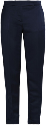 Amanda Wakeley Cropped Satin Tapered Pants