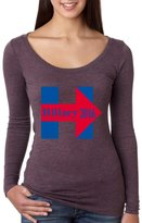 Allntrends Women's Shirt Hillary 2016 Red Blue Clinton For President USA (M, )