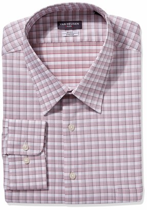 Van Heusen Men's Big FIT Dress Shirts Flex Collar Stretch Check