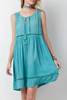 Easel Turquoise Casual Dress