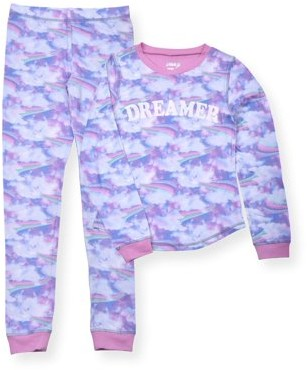Sleep On It Toddler Girls Long Sleeve Pajamas, 2pc Set (2T-4T)