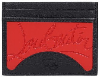 Christian Louboutin M Kios Sneaker Wallet In Black Leather