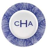 Caskata Personalized Sea Fan Blue Charger Plate