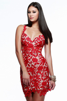 Faviana 7623 Sleeveless with Sexy Back Lace Cocktail Dress
