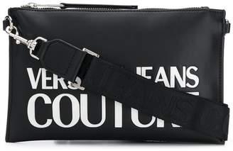 Versace Logo Print Detachable Strap Bag