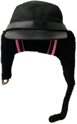 Burberry Black Leather Hats & pull on hats