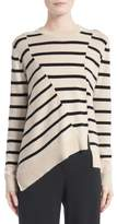 Proenza Schouler Cotton & Cashmere Asymmetrical Stripe Sweater
