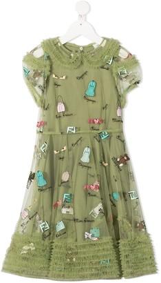 Fendi Kids All-Over Print Dress