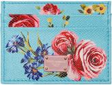 Dolce & Gabbana Blue Floral Card Holder