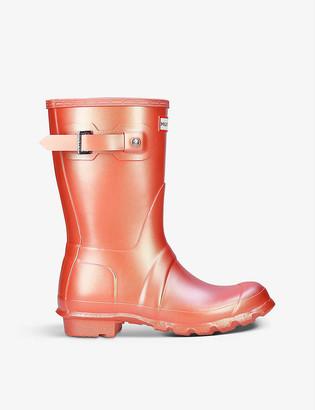Hunter Original Nebula short rubber wellington boots