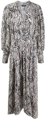 Isabel Marant Zebra Print Midi Dress
