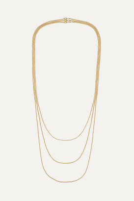 Carolina Bucci Set Of Three Disco Ball 18-karat Gold Necklaces - one size