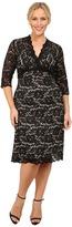 Kiyonna Scalloped Boudoir Lace Dress Women's Dress