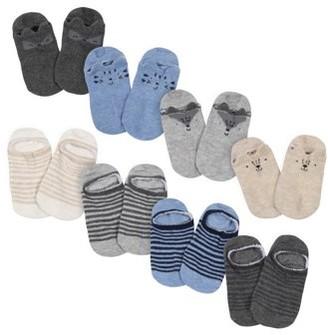 "Gerber Wiggle Proof Jersey ""No Show"" Socks, 8pk (Toddler Boy)"