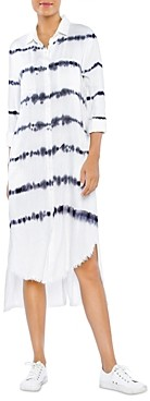 BILLY T Tie Dyed Shirt Dress