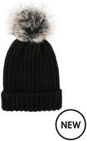 Accessorize Ribbed FF Pom Beanie Hat