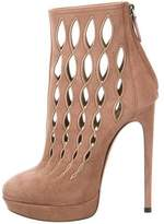 Alaia Suede Cutout Ankle Boots w/ Tags