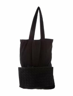 Bottega Veneta 1.5 Intrecciato Leather & Nylon Tote Black