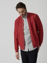 Frank + Oak Twill Cotton-Stretch Bomber Jacket in Lava