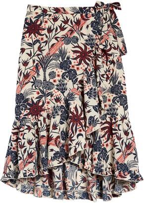 Scotch R'Belle Floral Print Maxi Skirt