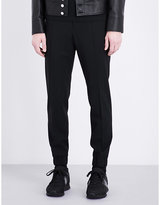 Kenzo Slim-fit Tapered Stretch-wool Trousers