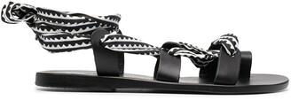 Ancient Greek Sandals x Mary Katrantzou map print sandals