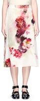 Lanvin Watercolour floral print silk midi skirt