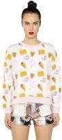 Au Jour Le Jour Ice Cream Printed Cotton Sweatshirt