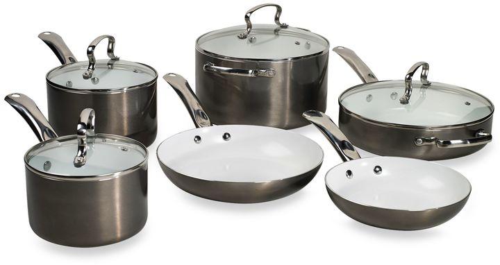 Denmark Tools for Cooks® 10-Piece Aluminum with Eco-Tech Plus Ceramic Nonstick Cookware Set