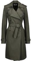 Rebecca Minkoff Amis eyelet-embellished cotton-blend twill trench coat