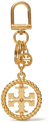 Tory Burch Twisted Logo Key Ring
