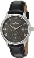 Lucien Piccard Men's 'Volos' Quartz Stainless Steel and Leather Casual Watch (Model: LP-10339-014-RA)