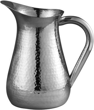 Leeber Elegance Hammered Stainless Steel Water Pitcher