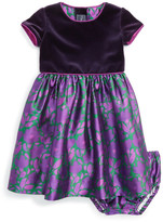 Oscar de la Renta &Brushstroke Fleur& Mikado Party Dress (Baby Girls)