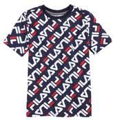 Fila Angled Logo Print T-Shirt