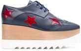Stella McCartney ruby star Elyse flatform shoes - women - Polyurethane/rubber/Cotton - 35
