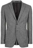 Jaeger Salt & Pepper Slim Fit Jacket, Charcoal