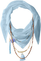 BCBGeneration Solid Layered Beads Triangle Scarf
