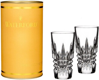 Waterford Giftology Lismore Diamond Set of 2 Lead Crystal Shot Glasses