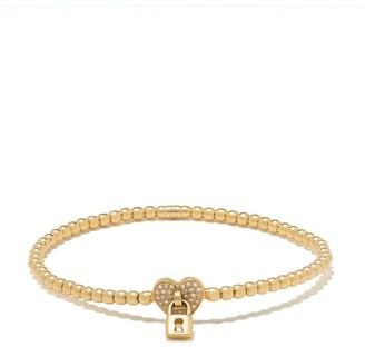 Monan 18kt Yellow Gold Diamond Heart Detail Bracelet