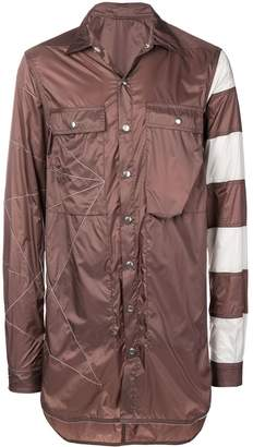 Rick Owens stripe details shirt jacket
