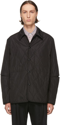 Dries Van Noten Black Quilted Shirt